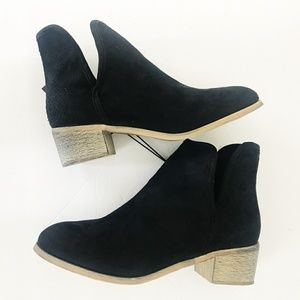 🎁 Seven7 Black Suede (Vegan) Ankle Boots